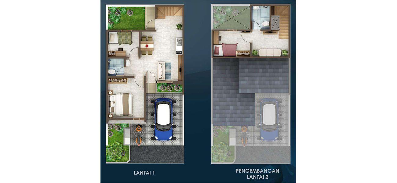 Residensial & Komersial Cluster Padmagriya Tipe 7x12 di Bandung