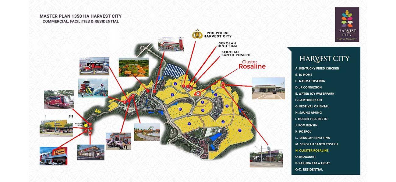 Residensial Harvest City Cluster Rosaline Tipe 55 di Bogor