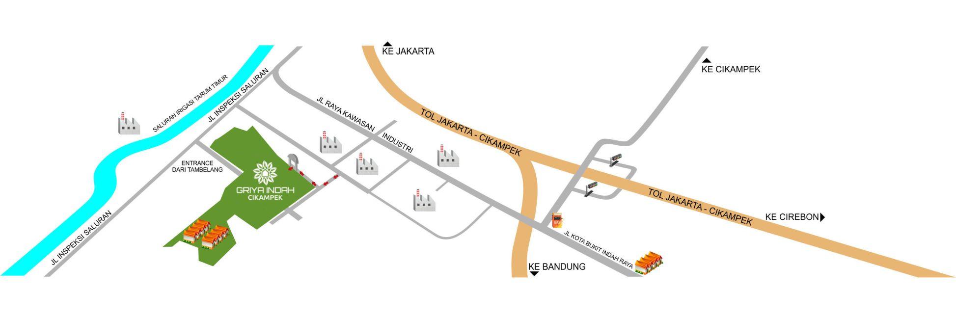 Residensial + Komersial Griya Indah Cikampek di Karawang