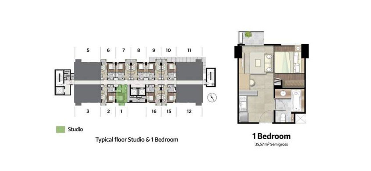 Residensial Kawana Golf Residence Tipe 1 Bedroom di Bekasi