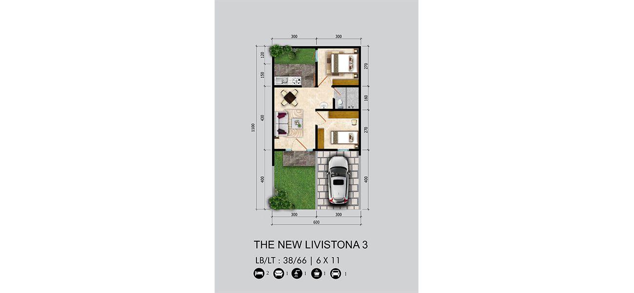 Residensial Citraland Cibubur Tipe New Livistona 3 di Bogor