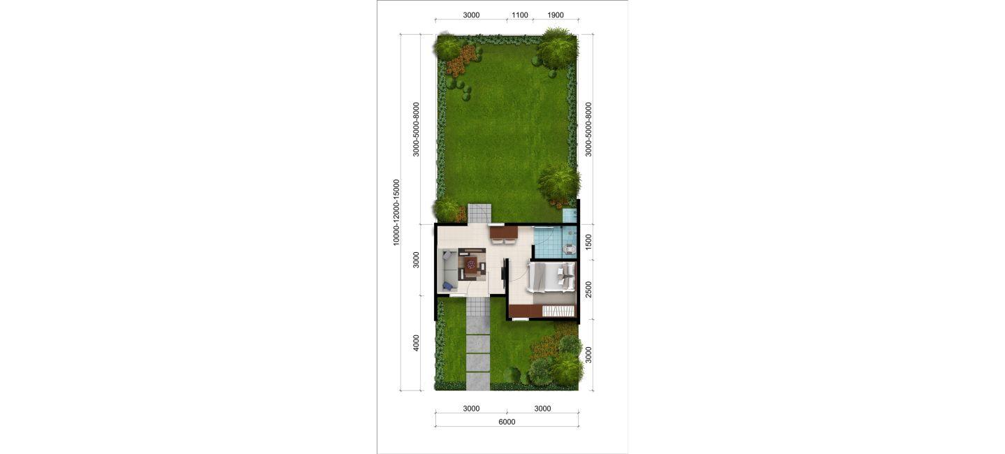 Residensial + Komersial Citra Indah Cluster Bukit Cerbera Tipe 22 di Bogor