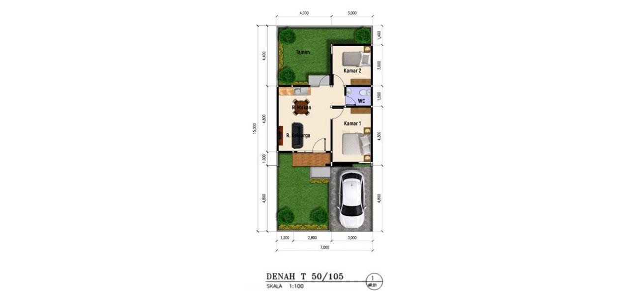 Residensial Cluster Lihaga at Tamansari Metropolitan Residence Tipe 50 di Manado