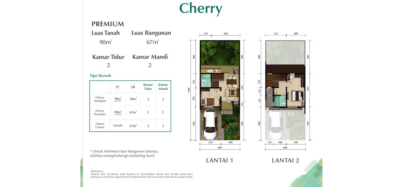 Residensial Cluster Chelsea & Cherry at Kota Summarecon Bandung di Bandung