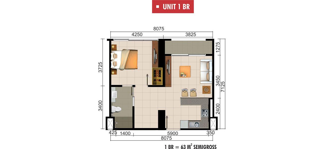 Residensial Paddington Heights Unit 1 BR di Tangerang