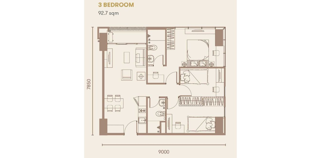 Residensial + Komersial Sakura Garden City Tipe 3 Bedroom di Jakarta Timur
