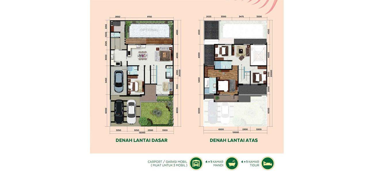 Residensial & Komersial Cluster Miami Tipe 12  di Bogor