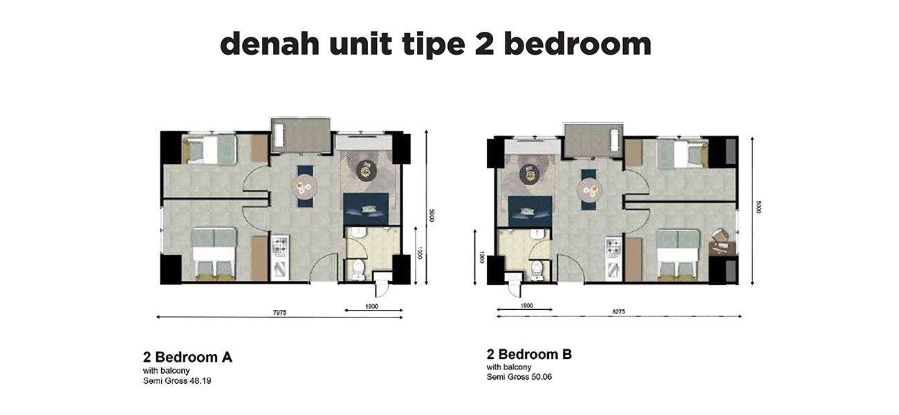 Residensial LRT City Green Avenue Tipe 2 BR di Bekasi