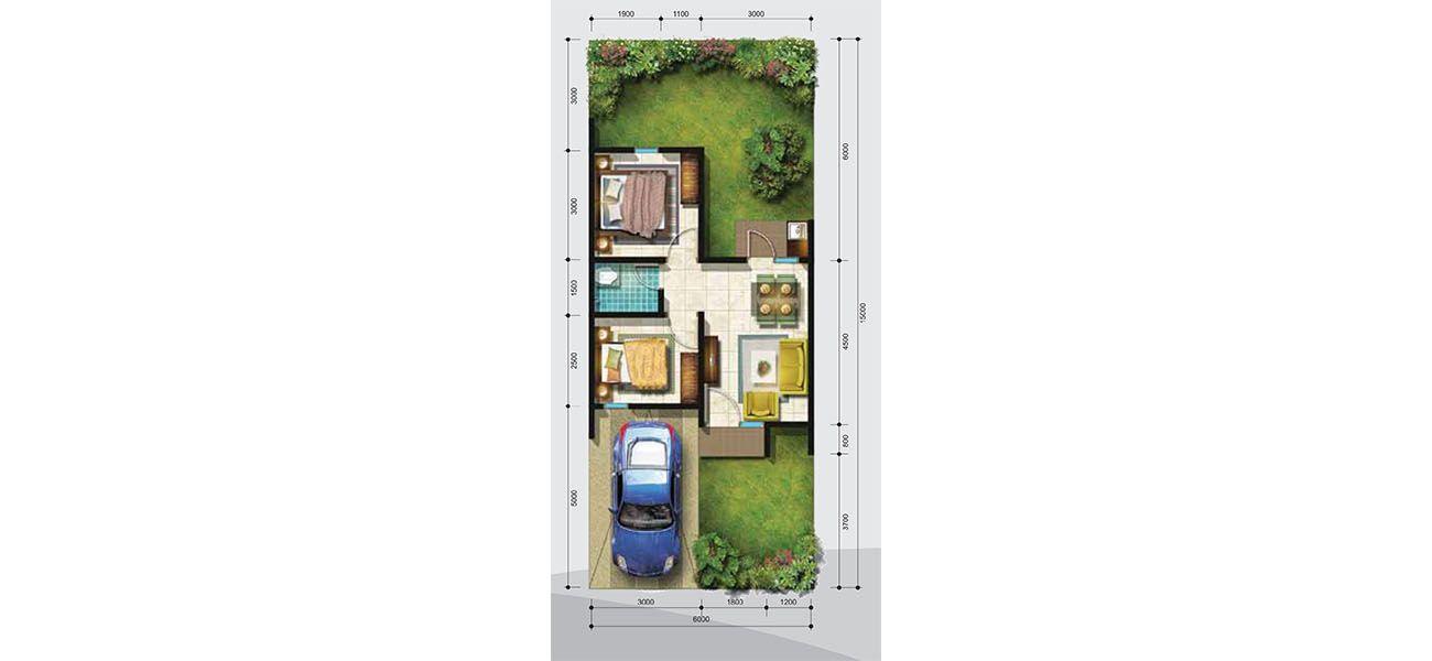 Residensial + Komersial Citra Indah Cluster Bukit Damar Tipe 36 di Bogor