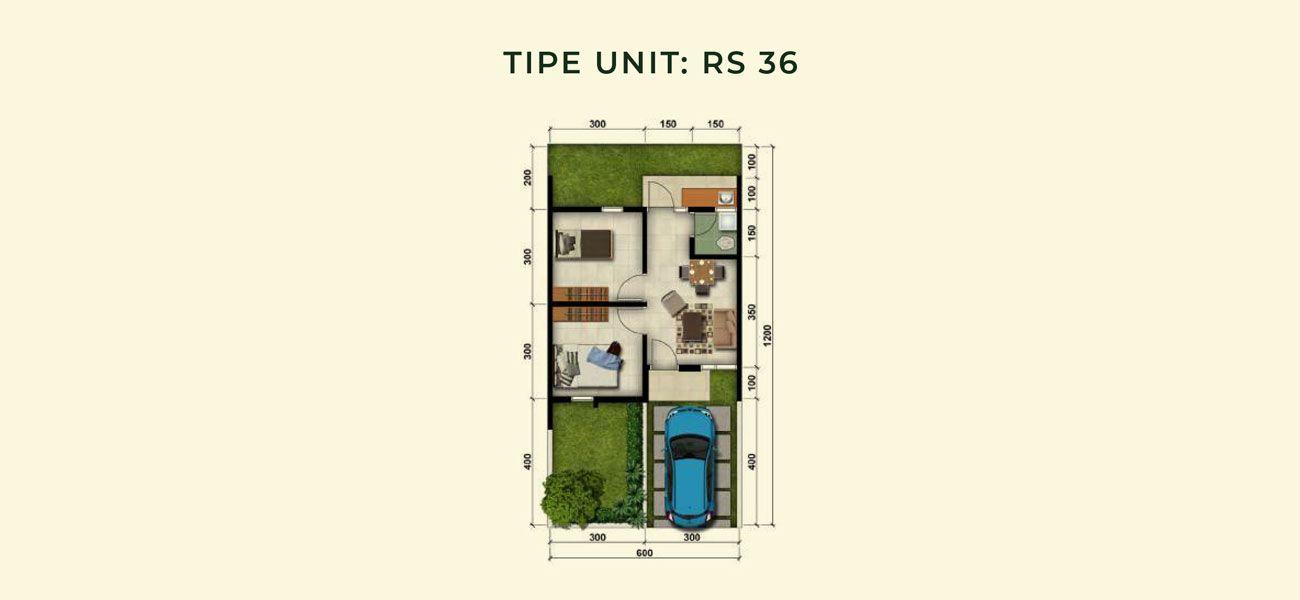 Residensial & Komersial Modernland Cilejit Tipe RS 36 di Tangerang