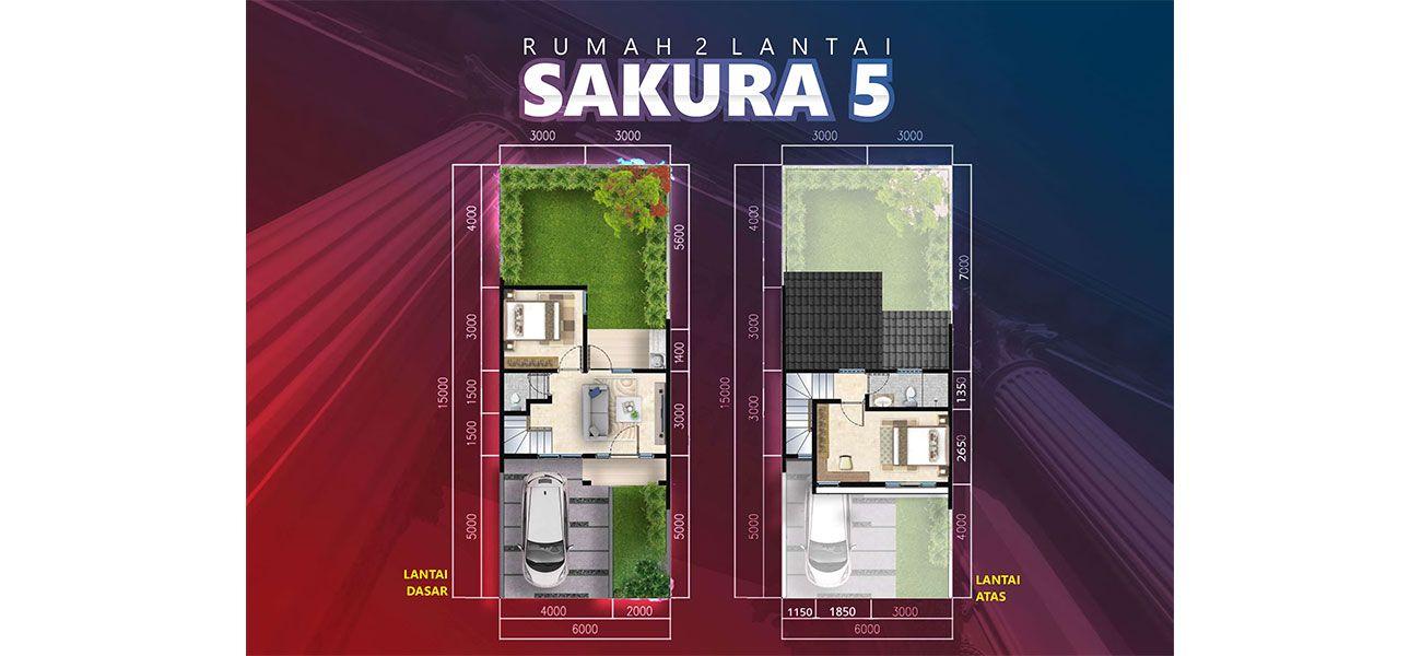Residensial + Komersial Citra Indah Cluster Bukit Sakura Tipe Sakura 5 di Bogor