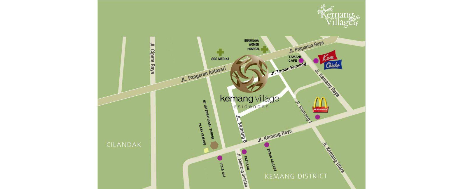 Residensial Kemang Village di Jakarta Selatan
