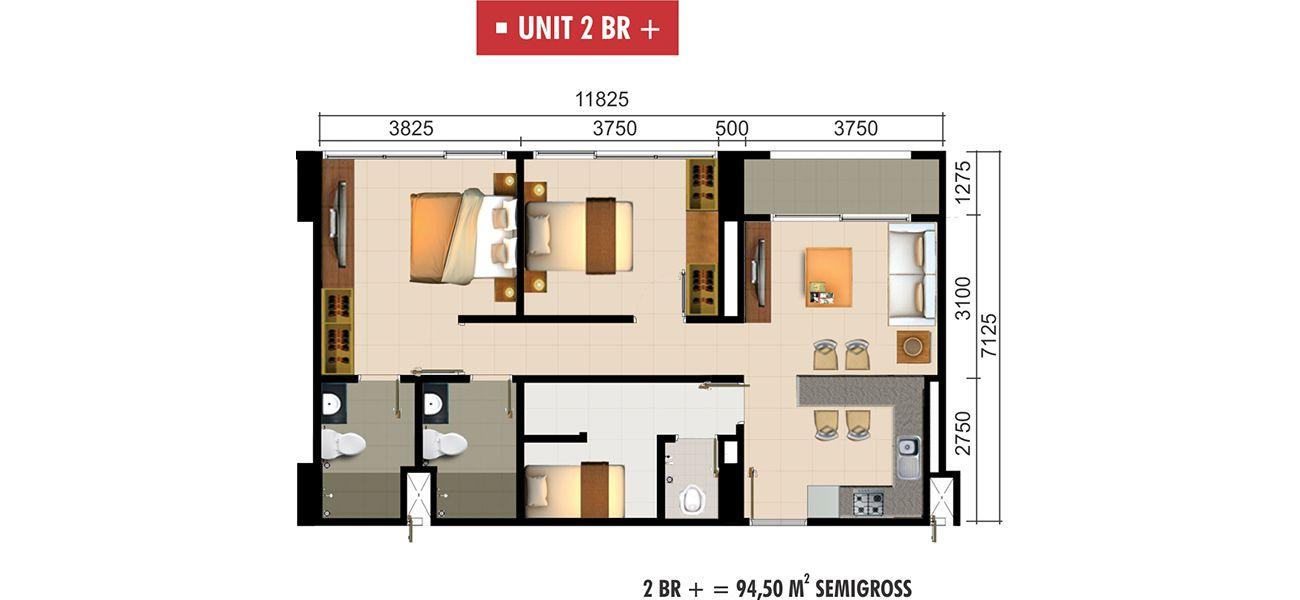 Residensial Paddington Heights Unit 2 BR + di Tangerang