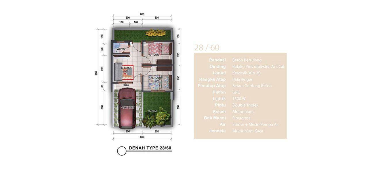Residensial Casavera Dramaga Residence Tipe Gladiola di Bogor