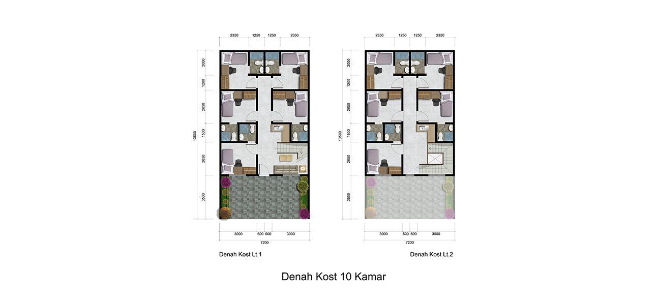 Residensial & Komersial Galuh Mas Karawang Tipe Rukost di Karawang