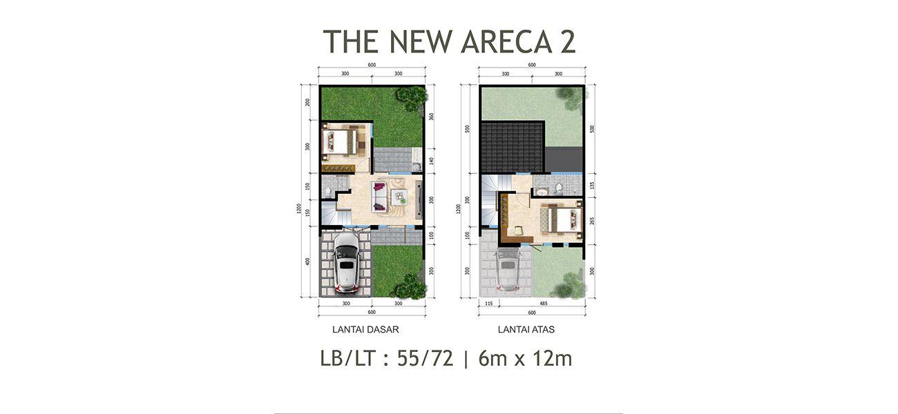 Residensial Citraland Cibubur Tipe New Areca 2 di Bogor