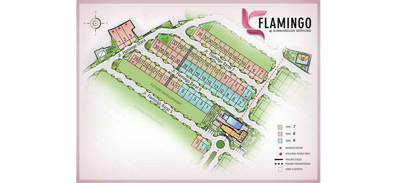 Residensial Cluster Flamingo at Summarecon Serpong di Tangerang
