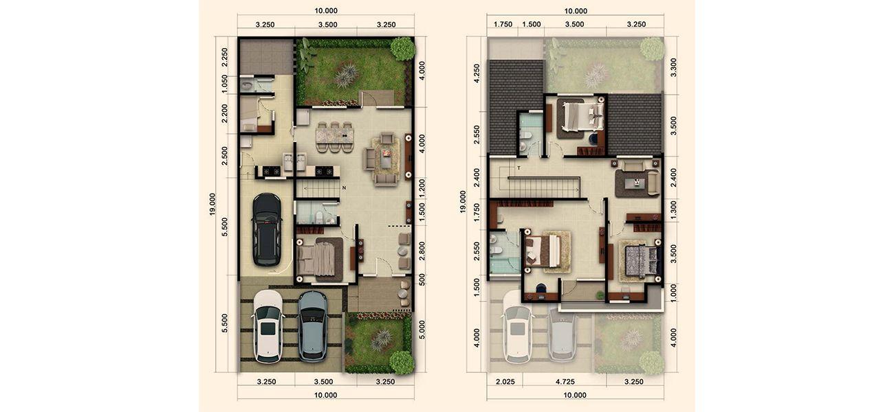 Residensial & Komersial Cluster Nashville Tipe 220 di Bogor