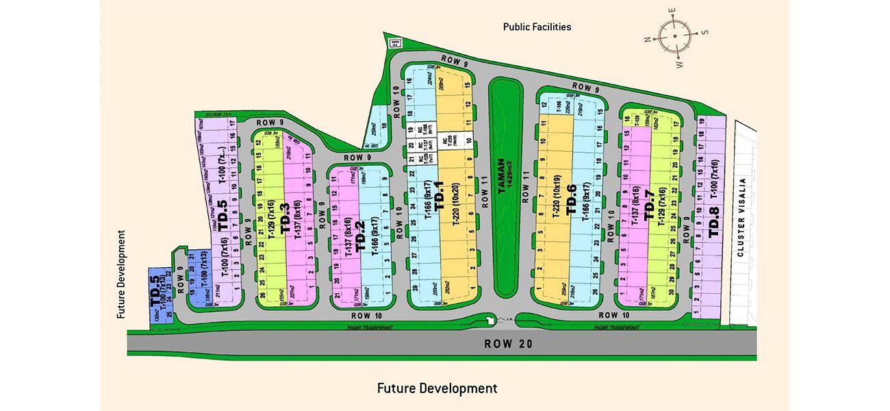 Residensial & Komersial Cluster Nashville Tipe 142 di Bogor