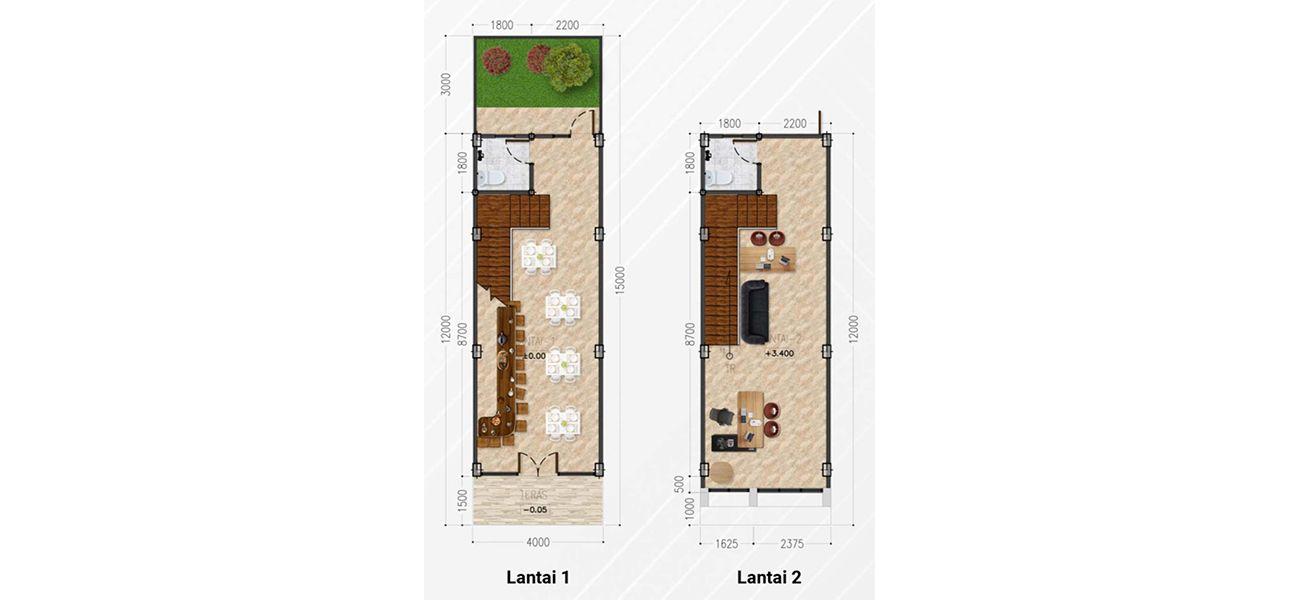 Residensial & Komersial Galuh Mas Karawang Tipe Ruko Granada di Karawang