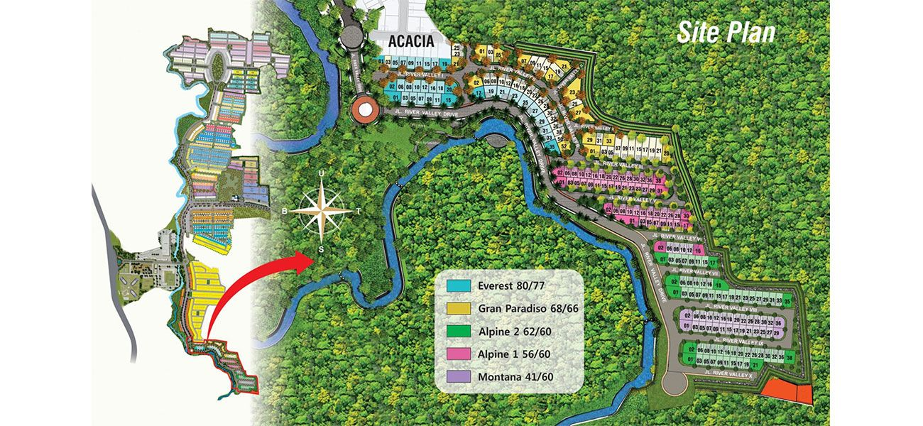 Serpong Natura City Cluster Natura River Valley