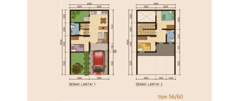 Residensial Naraya Park Tipe 56 di Bekasi