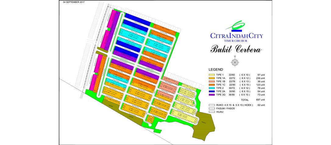 Residensial + Komersial Citra Indah Cluster Bukit Cerbera Tipe 30 di Bogor