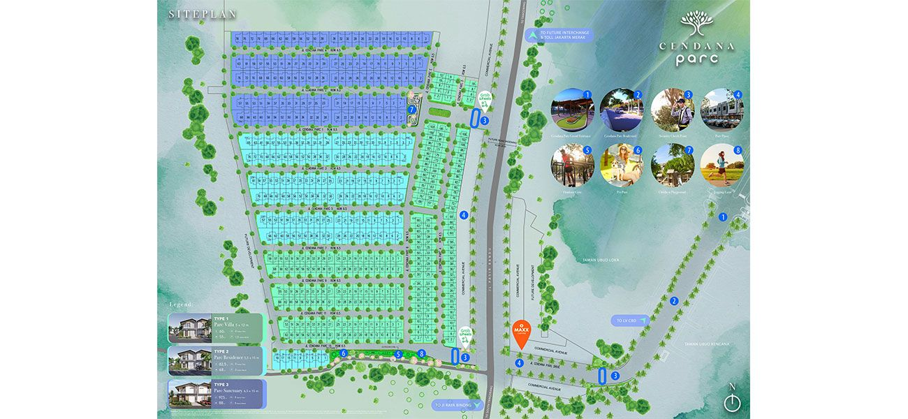 Residensial Cendana Parc di Tangerang