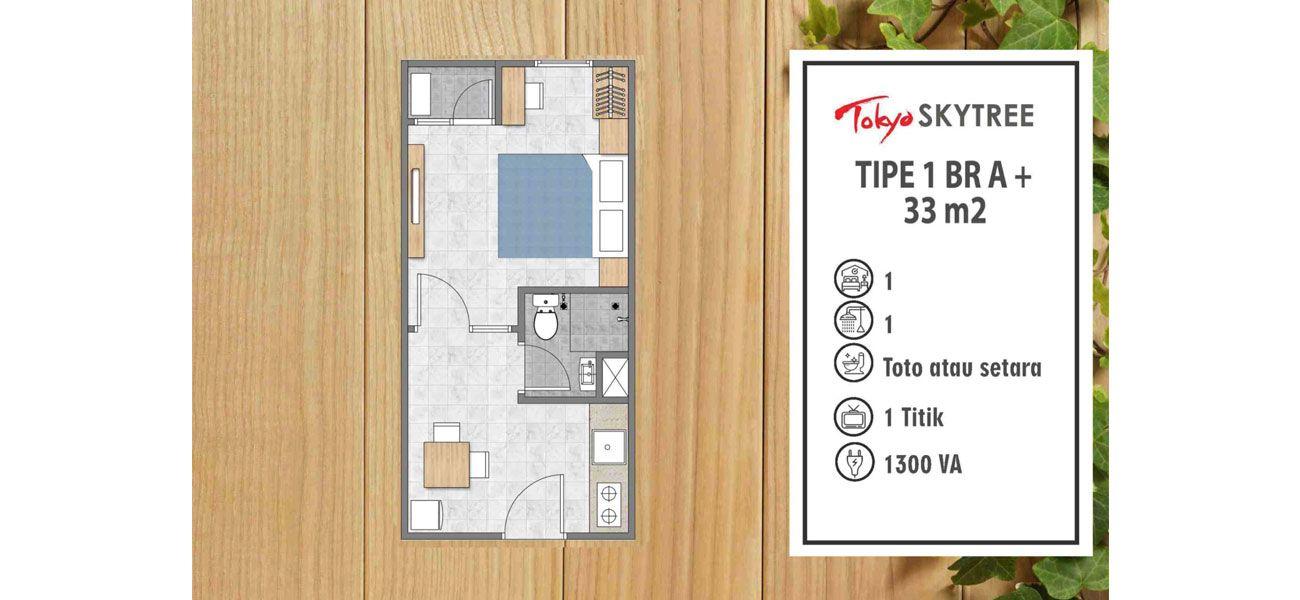 Residensial PIK 2 – Tokyo Skytree Tipe 1 BR di Jakarta Utara