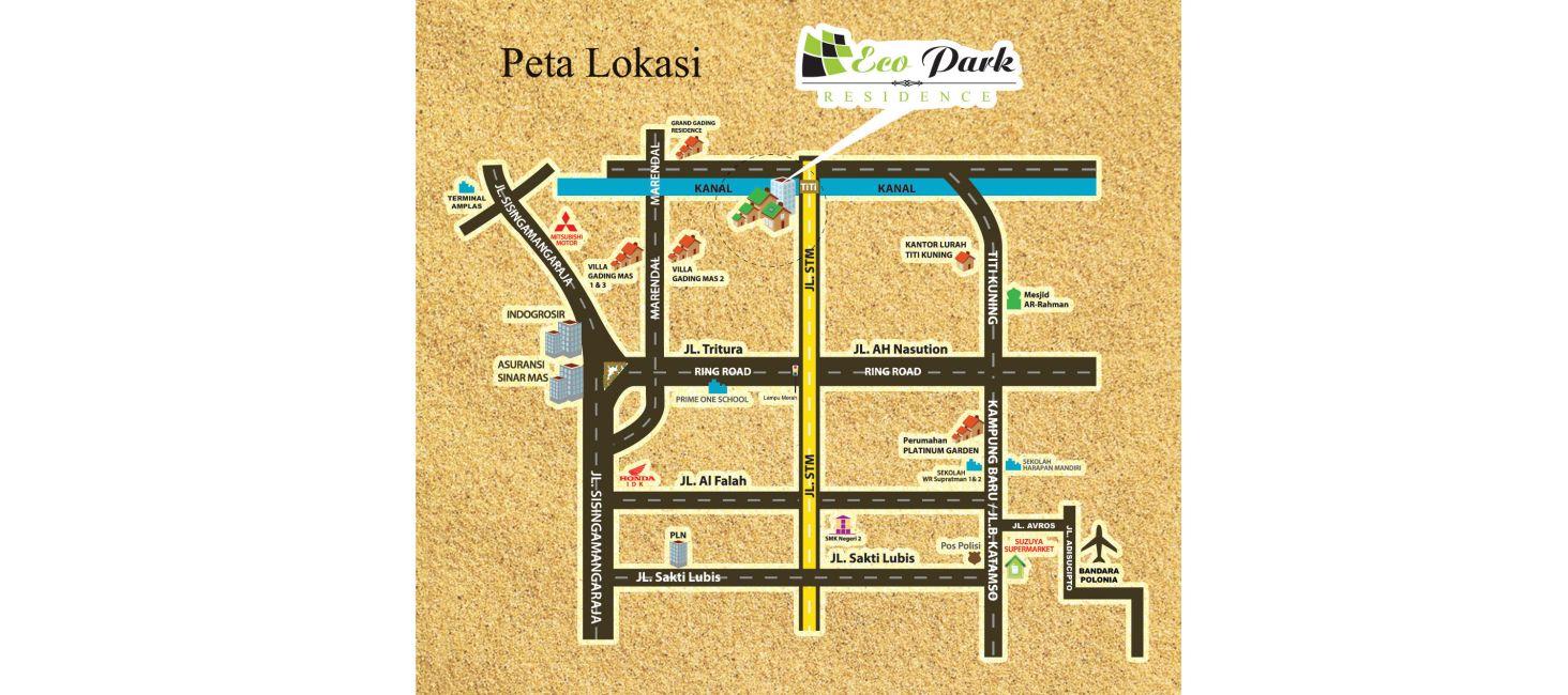 Residensial & Komersial Eco Park Residence di Medan