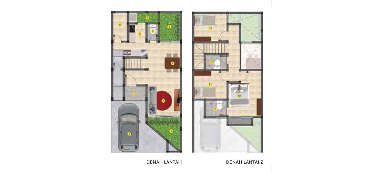 Residensial Balboa Estate Bintaro Tipe 6 di Tangerang