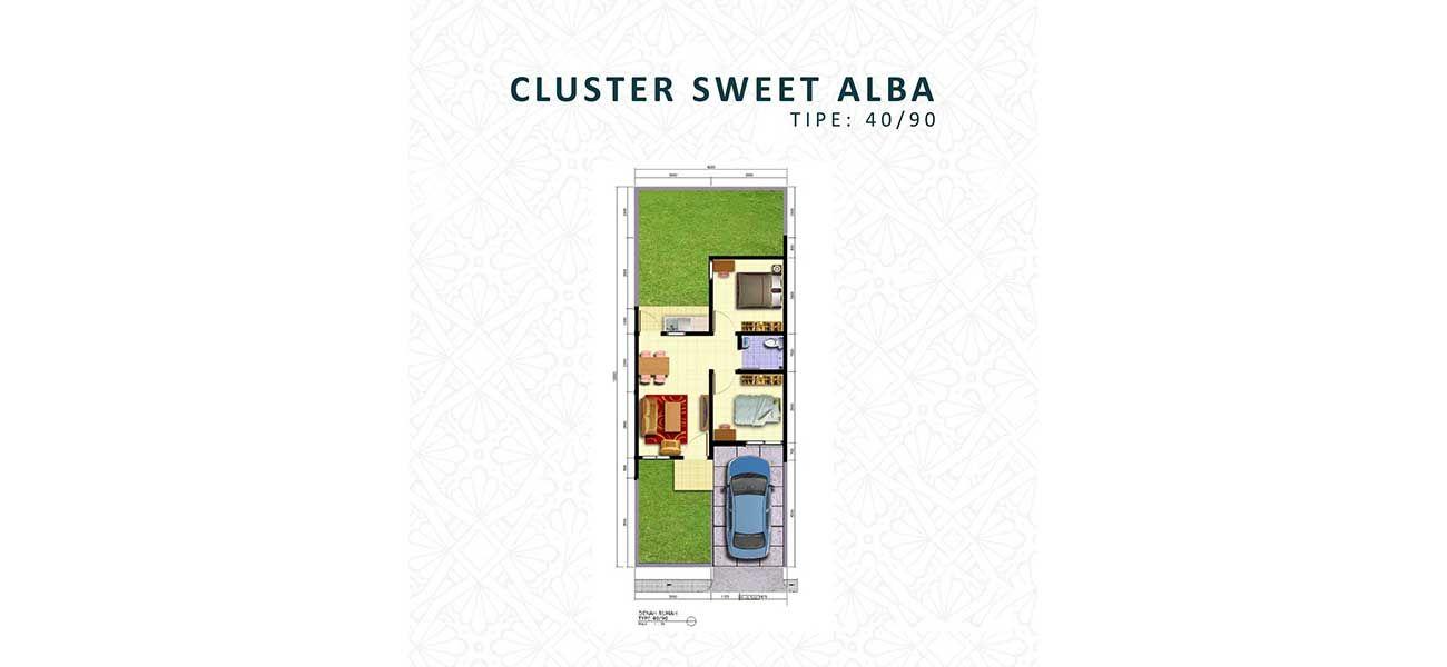 Residensial Harvest City Cluster Sweet Alba Tipe 40 di Bogor