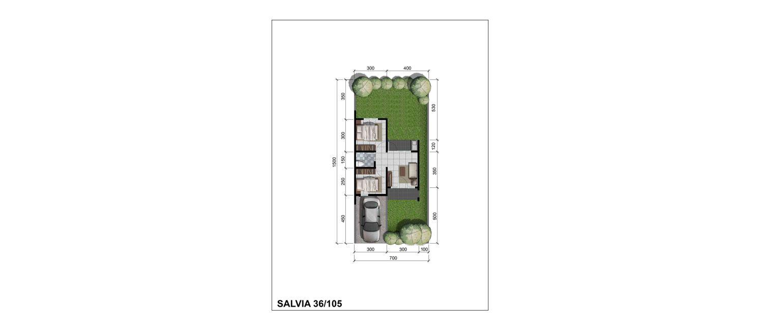 Residensial + Komersial Citra Indah Cluster Bukit Salvia Tipe 36 di Bogor