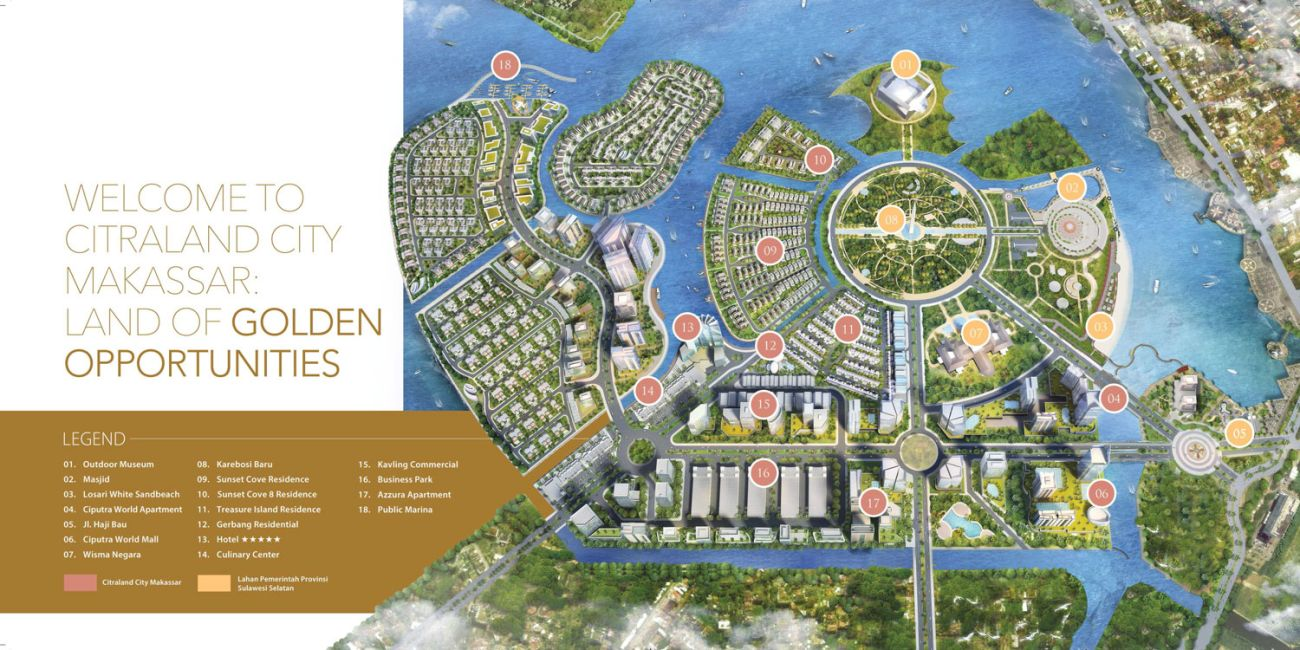 Komersial Business Park - Citraland City Losari di Makassar