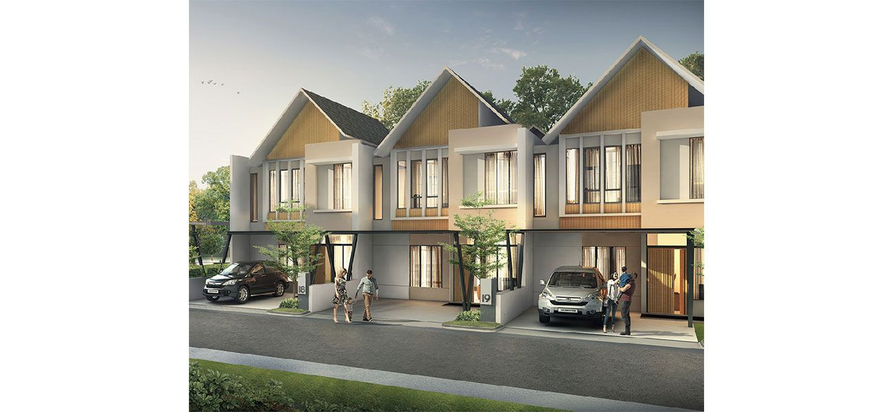 Residensial Cluster Auckland at Metland Transyogi Tipe Luxmore di Bogor
