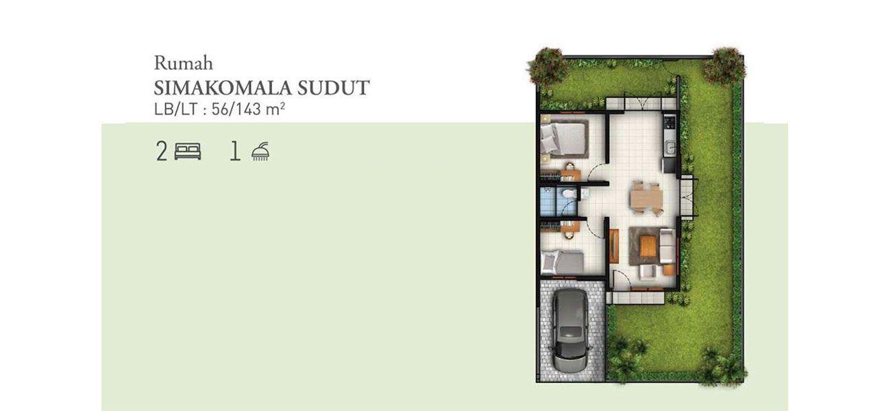 Residensial Cluster Tatar Simakirana Tipe Simakomala Sudut di Bandung