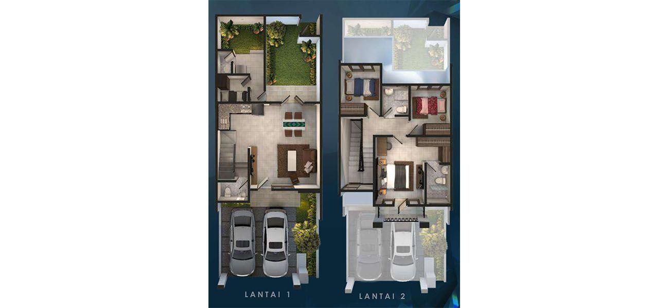 Residensial & Komersial Cluster Amagriya Tipe 7x18 di Bandung