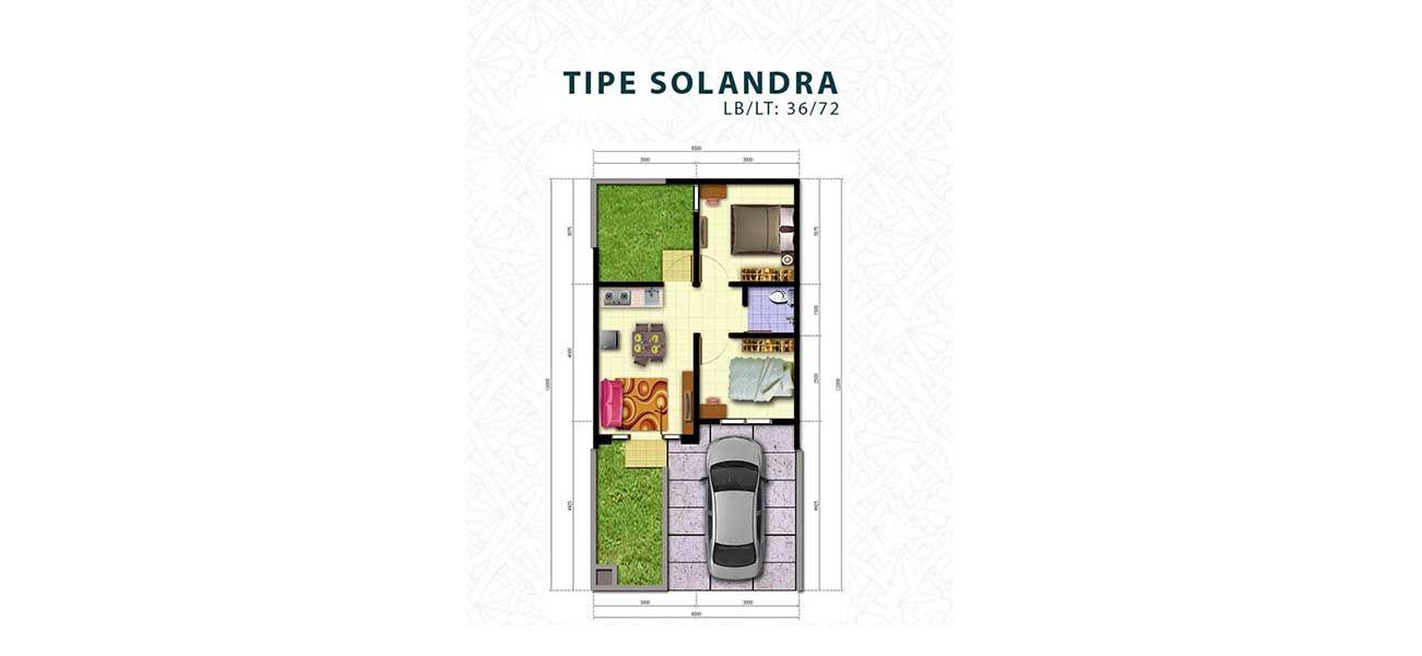 Residensial Harvest City Cluster Sweet Hortensia Tipe Solandra di Bogor