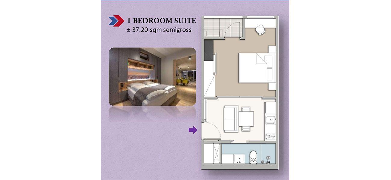 Residensial Homeyard Suites Tipe 1 BR di Jakarta Selatan