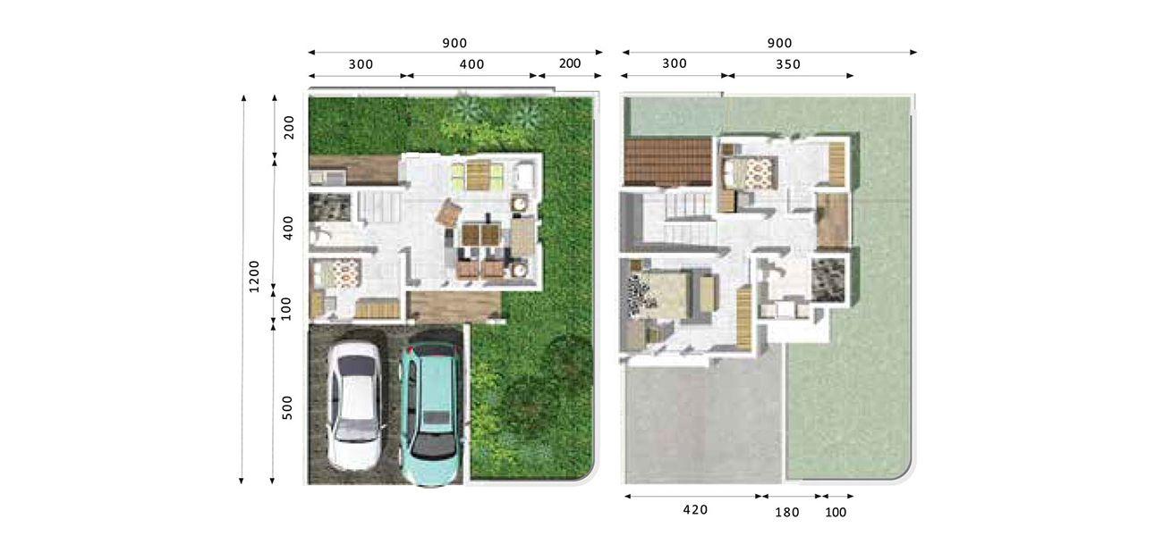 Residensial & Komersial Jade Park 2 Tipe Sapphire Hook di Bogor