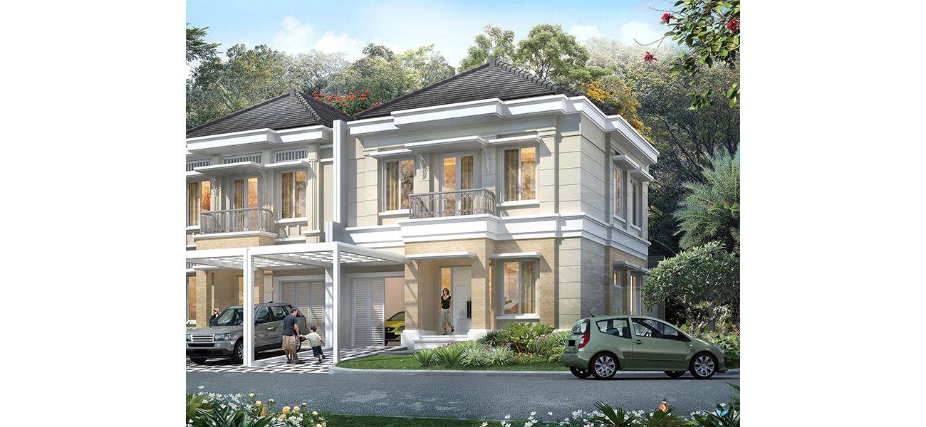Residensial Cluster Maxwell at Summarecon Serpong Tipe X di Tangerang