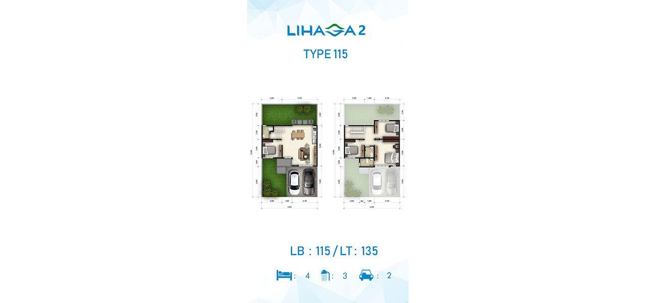 Residensial Cluster Lihaga 2 at Tamansari Metropolitan Residence Tipe 115 di Manado
