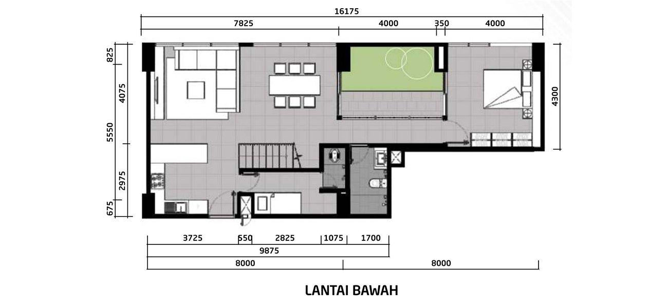 Residensial Paddington Heights Tipe 4 BR Loft Garden di Tangerang