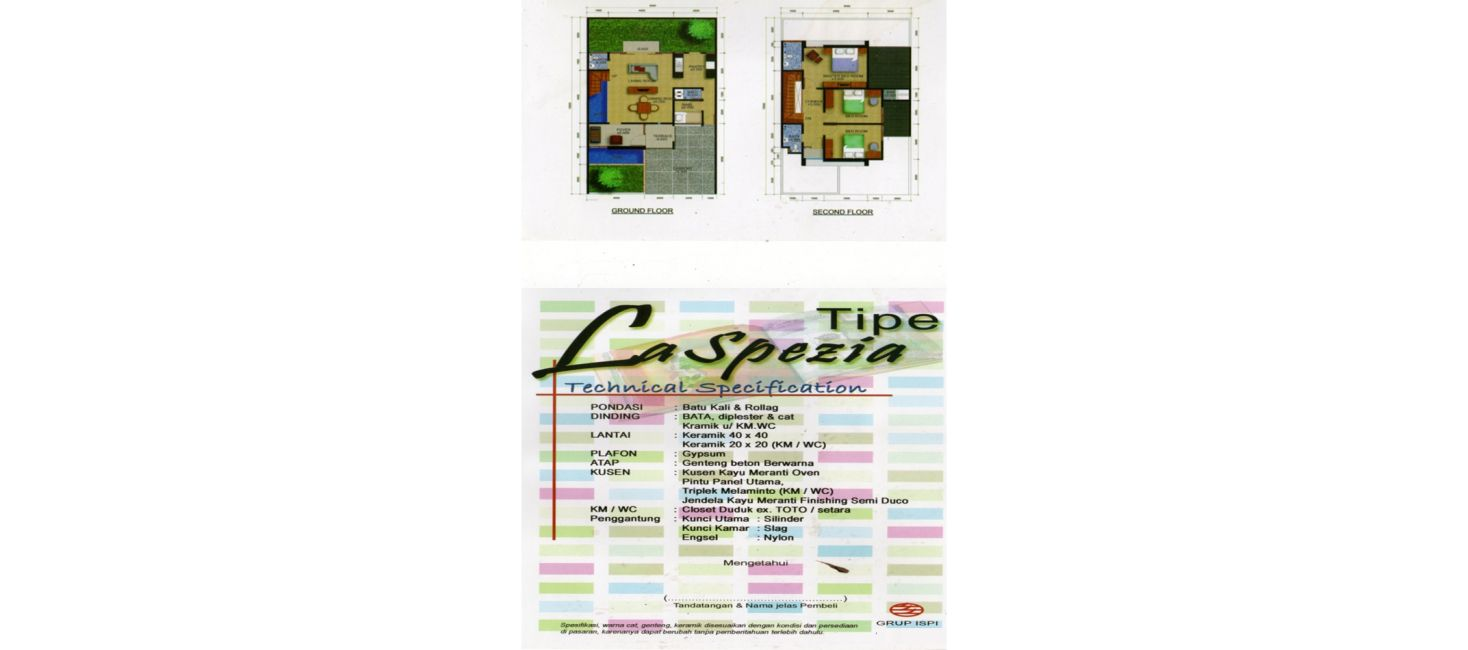 Residensial Cifest Tipe La Spezia di Bekasi