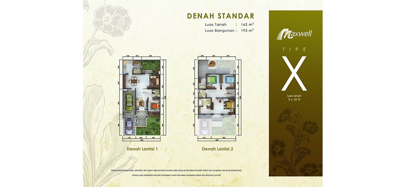 Residensial Cluster Maxwell Tipe X at Scientia Garden di Tangerang