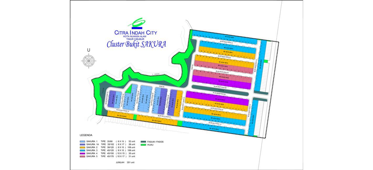 Residensial + Komersial Citra Indah Cluster Bukit Sakura Tipe 35 di Bogor